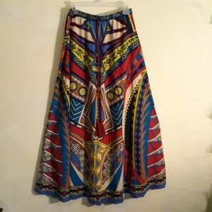 Multi colored  tribal boho maxi skirt